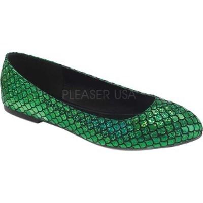 ファンタスマ レディース サンダル シューズ Mermaid 21 Flat Green Hologram PU