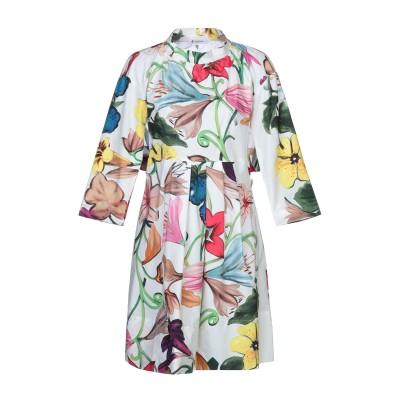 ドンダップ DONDUP ミニワンピース&ドレス ホワイト 42 コットン 100% ミニワンピース&ドレス