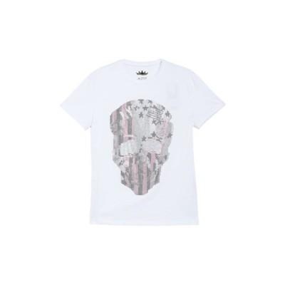 エックスレイ メンズ Tシャツ トップス Skull Print Rhinestone Flex T-Shirt WHITE