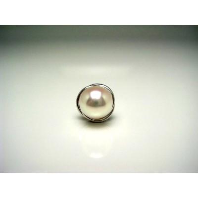 真珠 ネクタイピン パール アコヤ真珠 8.6mm シルバー 56893