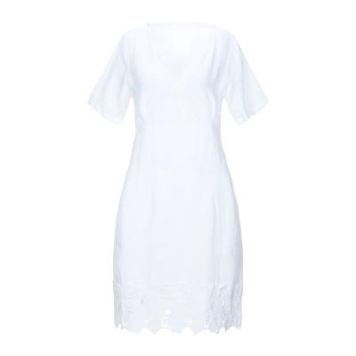 120% ミニワンピース&ドレス ホワイト 42 リネン 100% ミニワンピース&ドレス