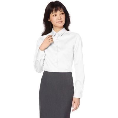 [ナラ カミーチェ] コットンシャンブレーベーシックカラー長袖シャツ 10-92-01-101 レディース ホワイト 日本 S (日本サイズ7 号相当