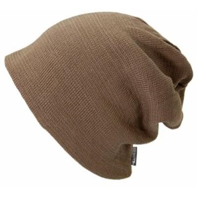 BIGWATCH正規品 大きいサイズ 帽子 メンズ リバーシブル ビッグワッチ/ブラウン/ベージュ/ルーズ/ワッチキャップ/ニット帽子 L XL 春夏秋