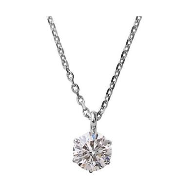 ダイヤモンドネックレス K18ホワイトゴールド 1粒 0.1ct ペンダント 送料無料【Winter jewelry】