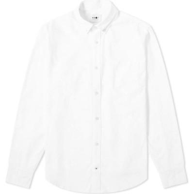 NN07 メンズ シャツ ワイシャツ トップス levon button down oxford shirt White