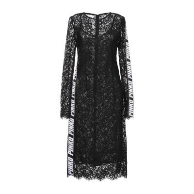 ピンコ PINKO 7分丈ワンピース・ドレス ブラック 40 ポリエステル 100% 7分丈ワンピース・ドレス