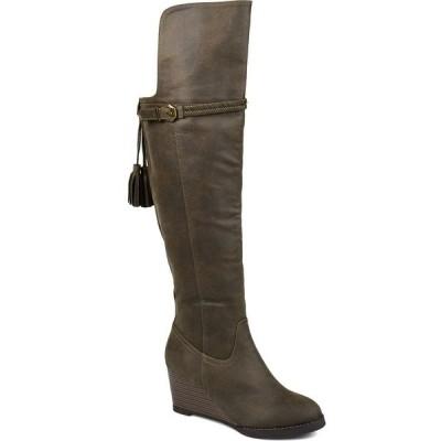 ジャーニーコレクション ブーツ&レインブーツ シューズ レディース Women's Wide Calf Jezebel Boot Olive