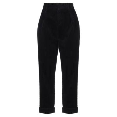 SAINT LAURENT パンツ ブラック 40 コットン 100% パンツ