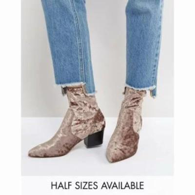 エイソス ブーツ ASOS REGIONAL Point Sock Boots Mink velvet