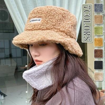 レディース ファション 帽子 秋冬 女子 韓国風 可愛い 純色 ふわふわ 学生 Lサイズ 復古 7COLORS 送料無料