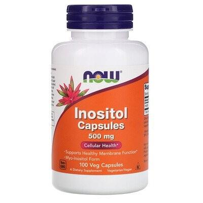 Inositol Capsules, 500 mg, 100 Veg Capsules