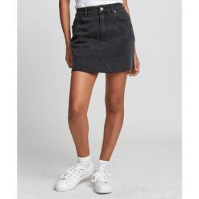 ルーカ レディース スカート ボトムス Siena High-Rise Denim Mini Skirt Black