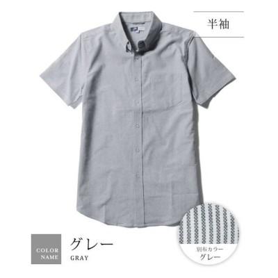 【ザ カジュアル】 (スプ) SPU ボタンダウン先染めオックスフォードストレッチシャツ メンズ グレー 長袖-M THE CASUAL