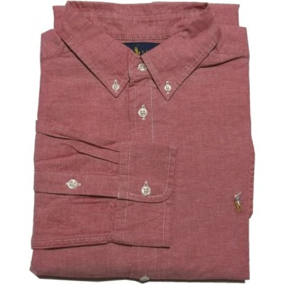 ポロ ラルフローレン ボーイズサイズ 長袖 ボタンダウンシャツ シャンブレー レッド Polo Ralph Lauren boys 1327