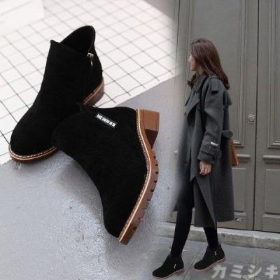 ウエスタンブーツ ショートブーツ ワークブーツ エンジニアブーツ ローヒール 春秋 スエード レディースシューズ シンプルデザイン 履きやすい