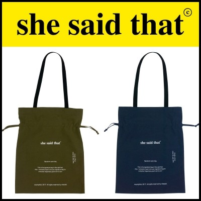 ⚡韓国ファッション⚡SHE SAID THAT⚡ SIGNATURE NYLON BAG