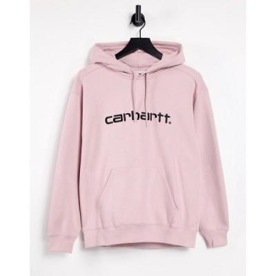 カーハート Carhartt WIP レディース パーカー トップス relaxed hoodie with oversized logo in pink