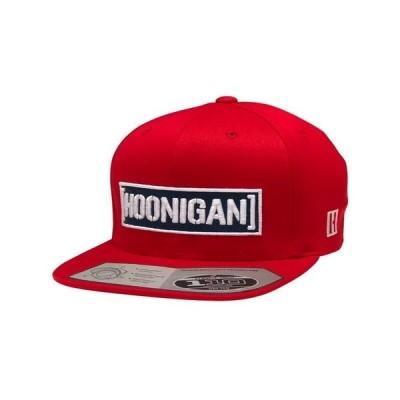 フーニガン オフィシャル Censor Bar 110 レッド スナップバック フラット キャップ CAP 帽子 HOONIGAN RACING ケン ブロック ジムカーナ D1