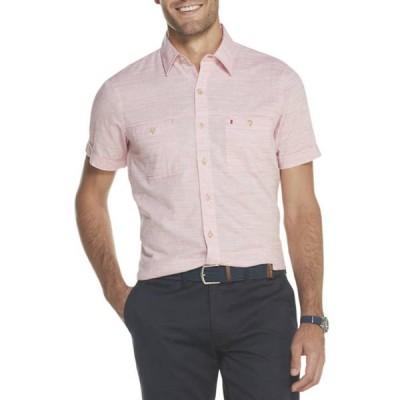 アイゾッド メンズ シャツ トップス Men's Dockside Chambray Short Sleeve Button Down Shirt