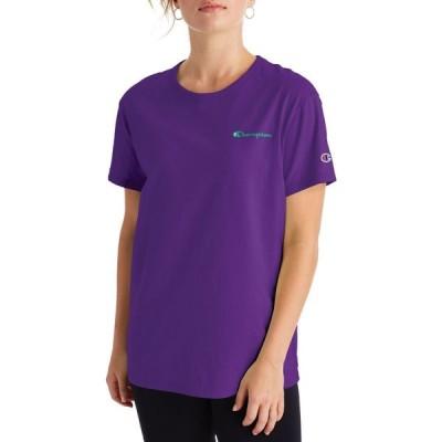 チャンピオン Champion レディース Tシャツ トップス Script Logo Boyfriend T-Shirt Purple Crush