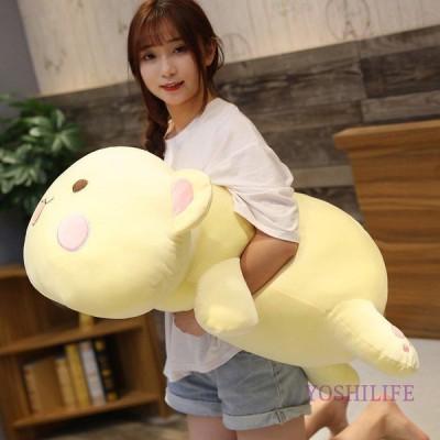 抱き枕くま 縫い包み 大きい 可愛い動物 ぬいぐるみ 添寝枕 クッション もちもち ふわふわ 柔らか 可愛い 女の子プレゼント用 60cm