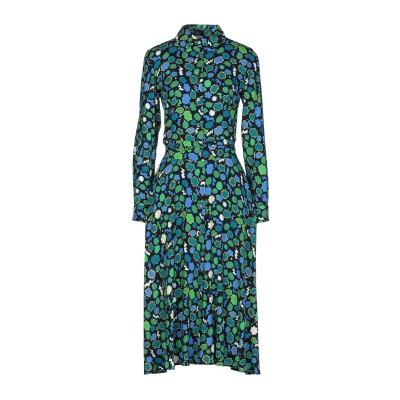 パロッシュ P.A.R.O.S.H. 7分丈ワンピース・ドレス グリーン XS シルク 93% / ポリウレタン 7% 7分丈ワンピース・ドレス