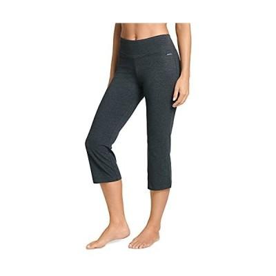 Jockey Women's Activewear Cotton Stretch Flare Capri charcoal L