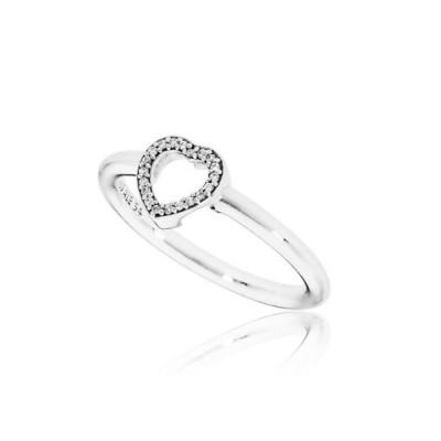 チャーム ブレスレット パンドラ Pandora Women'S Ring Puzzle Heart Frame Sterling Silver Jewelry 196549Cz-54