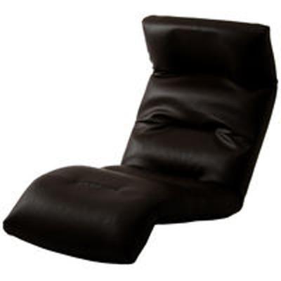 セルタンセルタン 座椅子 和楽の雲 下タイプ 幅540×奥行930~1380×高さ120~700mm PVCブラック (直送品)