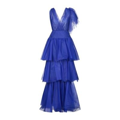 SOALLURE ロングワンピース&ドレス ブルー 40 ナイロン 100% ロングワンピース&ドレス