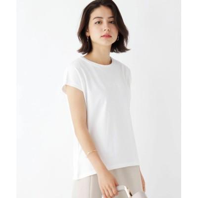 index / 同色刺しゅうフレンチスリーブロゴTシャツ【WEB限定サイズ】 WOMEN トップス > Tシャツ/カットソー