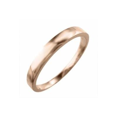 平打ちの 指輪 スタンダード 10kピンクゴールド 最大約3mm幅