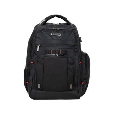 ケネスコール メンズ バックパック・リュックサック バッグ Dual Compartment RFID & USB Laptop Business Backpack BLACK