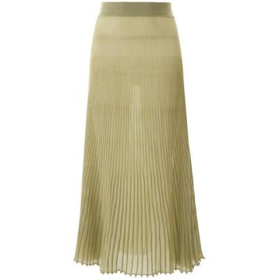 ジャクエムス レディース スカート ボトムス Jacquemus Pleated Sheer Skirt -