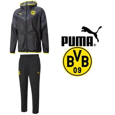 PUMA プーマ BVB ボルシア ドルトムント2020-21ウォームアップジャケット&ウォームアップパンツ 758585-02-758583-02 プーマジャパン国内正規ライセンス商品