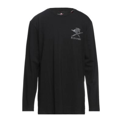プレイン・スポーツ PLEIN SPORT T シャツ ブラック 3XL コットン 95% / ポリウレタン 5% T シャツ