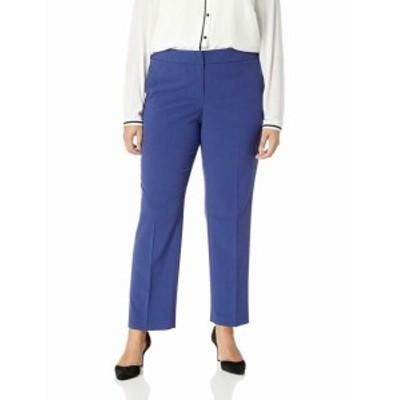 Nine West ナインウエスト ファッション パンツ Nine West Womens Pants Blue Size 18W Plus Dress Low-Rise Flare Stretch