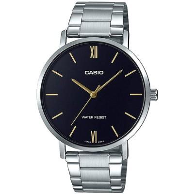 腕時計 カシオ メンズ MTP-VT01D-1BUDF (A1612) Casio MTP-VT01D-1B Men's Stainless Steel Minimalistic Bl