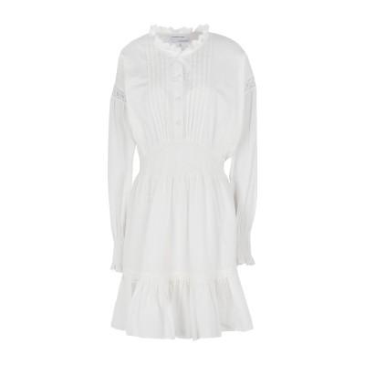 DESIGNERS, REMIX ミニワンピース&ドレス ホワイト 32 オーガニックコットン 100% ミニワンピース&ドレス