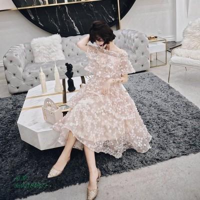 パーティードレス ワンピース 花嫁ミニドレス ウェディングドレス 簡約 花嫁二次会 プリンセス パーティードレス 演奏会 演奏会 ドレス 挙式 可愛い