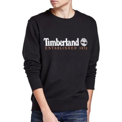 ティンバーランド Timberland メンズ スウェット・トレーナー トップス Essential Est. 1973 Crew Sweatshirt Black/Wheat Boot