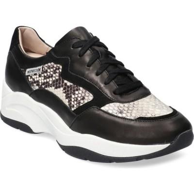 メフィスト MEPHISTO レディース スニーカー シューズ・靴 Romane Sneaker Black Silk/Boa Leather