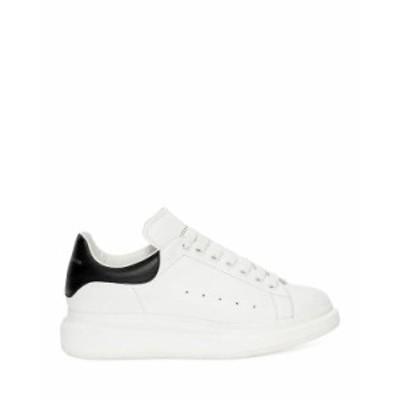 アレキサンダー・マックイーン メンズ スニーカー シューズ Men's Oversized Leather Heel Detail Sneakers White/Black