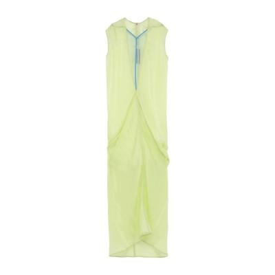 リック オウエンス RICK OWENS ロングワンピース&ドレス ビタミングリーン 40 キュプラ 100% / ナイロン ロングワンピース&ドレス