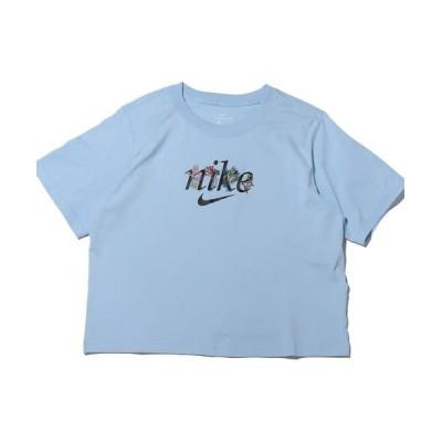 【アトモス】 ナイキ ウィメンズ NSW ボクシー ネイチャー S/S Tシャツ レディース ブルー L atmos