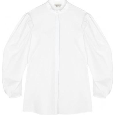 アレキサンダー マックイーン Alexander McQueen レディース ブラウス・シャツ トップス white cotton-poplin shirt White