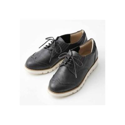 クラソ Kraso スニーカーの履き心地 ダークカラーの軽やかきちんと靴 (チャコールグレー)