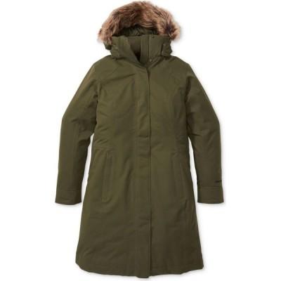 マーモット Marmot レディース コート フード アウター Chelsea Hooded Faux-Fur-Trim Coat Nori