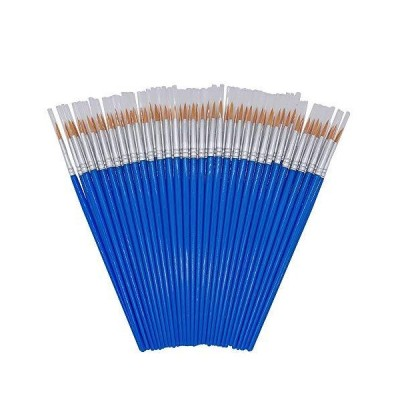 (Blue(round Tip)) - SUNNY CHEN Children's Art Paintbrushes,Little Painting Brushes for Kids with Flat and Round Tips (blue(round tip))並行