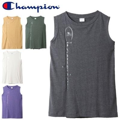 ノースリーブシャツ レディース/チャンピオン ChampionスリーブレスTシャツ クルーネック 袖なし /CW-R318【取寄】